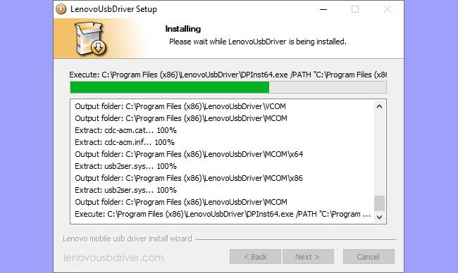 Lenovo USB Driver Setup Process